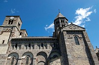 Church of Saint Nectaire. Auvergne. France