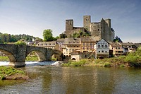 Castle Runkel, Runkel at river Lahn, Hesse, Germany, Europe