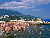 Ukraine, Crimea, near Yalta beach