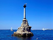 Ukraine, Crimea, Sevastopol war memorial in the sea