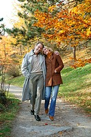 couple at autumn walk