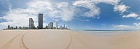 Surfers Paradise, Gold Coast, Queensland, Australia, panorama, panoramic