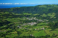 Furnas valley, photographed from the Salto do Cavalo viewpoint  Sao Miguel island, Azores