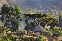 Amhara Village. Welo province. Lalibela region. Ethiopia.