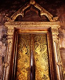 Door from 17th century, Thailand, Southeast Asia, Asia