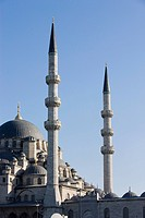 Minarets and dome of the New Mosque, Istanbul, Turkey, Europe