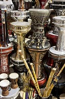 Musical instruments for sale, Grand Bazaar Great Bazaar, Istanbul, Turkey, Europe