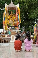 Temple at Phrom Thep cape, Phuket, Thailand, Southeast Asia, Asia
