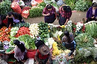 Produce market, Chichicastenango, Guatemala, Central America