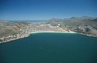 Aerial of Fishhoek, Cape Peninsula, Western Cape Province, South Africa