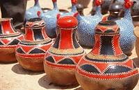 Traditional clay pottery craft, Zimbabwe