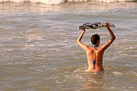 Surfen im Ozean