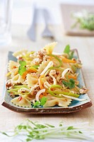 Asian farfalle salad