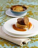 Beef roulade on napkin dumpling