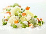 Frozen soup vegetables