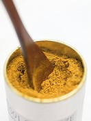 Indian curry powder in container