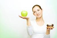 choosing between apple and cake