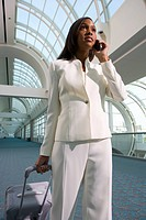 Businesswoman walking in airport