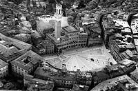 piazza del campo, siena, toscana, italia, 1966