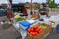Roadside fruit and vegetable stand in Upper Peninsula Michigan