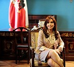 President of Argentina Cristina Fernandez de Kirchner during a visit to the Palacio de la Moneda, Santiago de Chile, Chile (October 29th, 2009)
