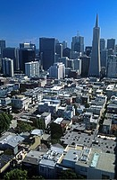 Aerial view of the Business Financial District. San Francisco (California)