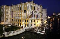 Italy, Venice, Grand Canal, Cavalli Franchetti Palace