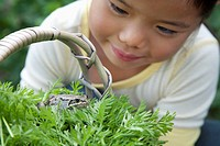 Girl with pet frog