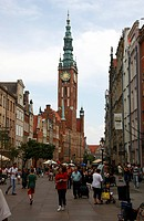 Historic centre and city hall, Gdansk, Poland, Europe