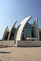 Jubilee Church, La Chiesa del Dio Padre Misericordioso, by architect Richard Meier, 1996-2003, Tor Tre Teste, Rome, Italy, Europe