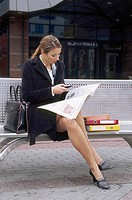 Businesswoman on the bench