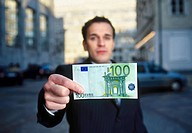 Man holding euro