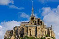 Mont_Saint_Michel, Benedictine abbey, Normandy, France, Europe