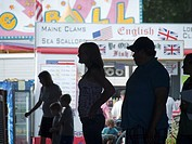 Visitors at the Union County Fair in Union, Maine