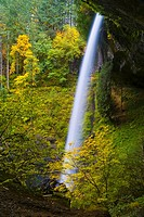 North Falls in autumn, Silver Falls State Park, Oregon, USA