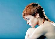 Nude woman portrait