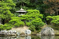 Garden of Imperial Palace, Kyoto, Japan