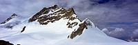 Summit of Jungfrau in the Bernese Alps, Bernese Oberland, Switzerland