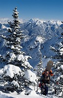 Kicking horse backcountry, British Columbia, Canada.