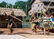 Traditional costumes and dance , Sawarak, Malaysia