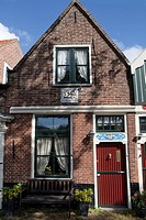 Tiny house front, Edam, Holland, Netherlands, Europe
