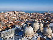View of the Basilica di San Marco, Venice, Italy, Europe