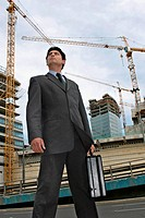 Businessman on the building site