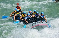River Rafting Boat in Austria with nine persons