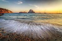 Sunset in Cala D´hort, Ibiza