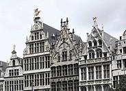 Guild houses, Grote Markt square, Antwerp, Flanders, Belgium, Europe