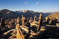 Cairns, Zillertal Alps, Tyrol, Austria, Europe