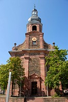 Baroque parish church of St. Justinus, Alzenau in Lower Franconia, Bavaria, Germany, Europe