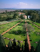 Aerial photograph of the Bahai Gardens in the Western Galilee