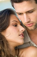 Close_up of a couple romancing